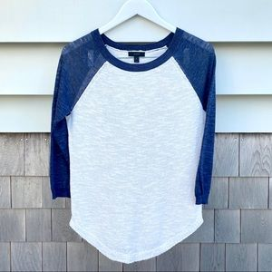 JCrew navy & white, lightweight sweater